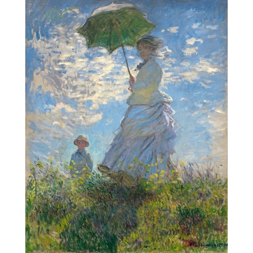 Cuadro Woman with a Parasol - Madame Monet and Her Son, 1875