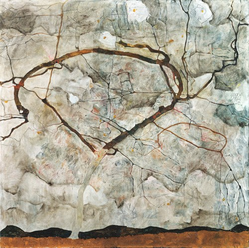 abstracts paintings - Autumn Tree in Stirred Air (Winter Tree), 1912 - Schiele, Egon