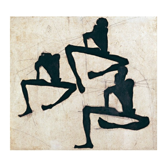 Abstracto _ Composition with Three Male Nudes, 1910