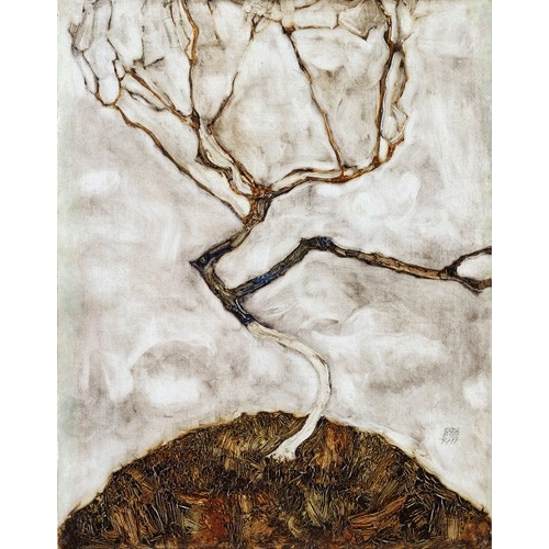 Comprar abstracts paintings - Small Tree in Late Autumn, 1911 online - Schiele, Egon