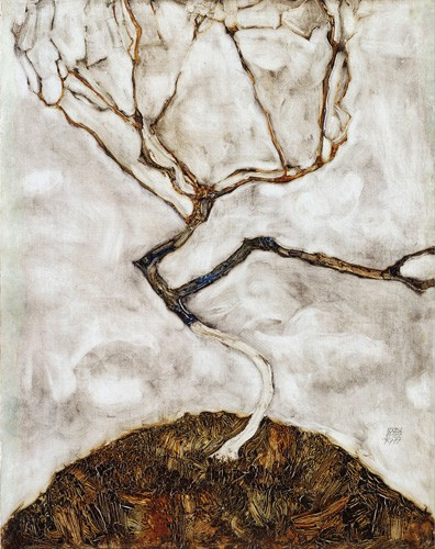 abstracts paintings - Small Tree in Late Autumn, 1911 - Schiele, Egon