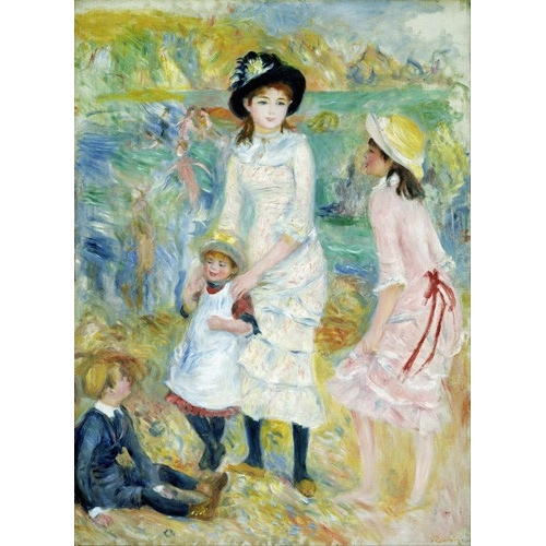 Comprar portrait and figure - Children on the Seashore, Guernsey, 1883 online - Renoir, Pierre Auguste