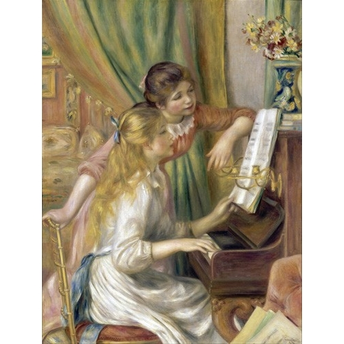 Comprar portrait and figure - Young Girls at the Piano, 1892 online - Renoir, Pierre Auguste