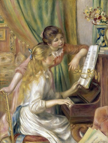 cuadros de retrato - Cuadro Young Girls at the Piano, 1892 - Renoir, Pierre Auguste