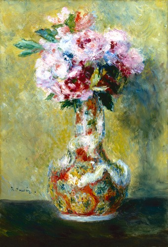 flowers - Bouquet in a Vase - Renoir, Pierre Auguste