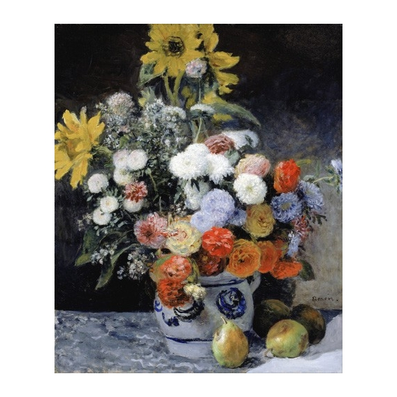 """Mixed Flowers in an Earthenware Pot, 1869"""