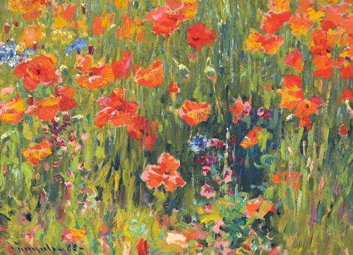 cuadros de flores - Cuadro Amapolas, 1888 - Vonnoh, Robert William