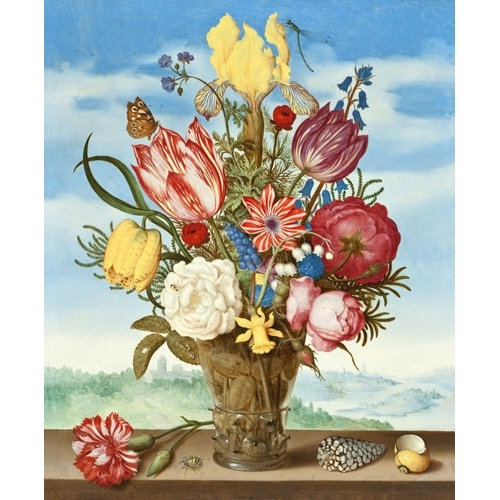 Comprar flowers - Bouquet of Flowers on a Ledge online - Bosschaert, Ambrosius