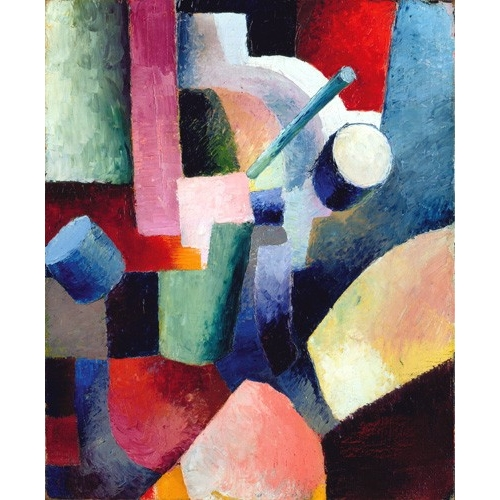Comprar contemporary paintings - Abstracto _ Colored Composition of Forms, 1914 online - Macke, August