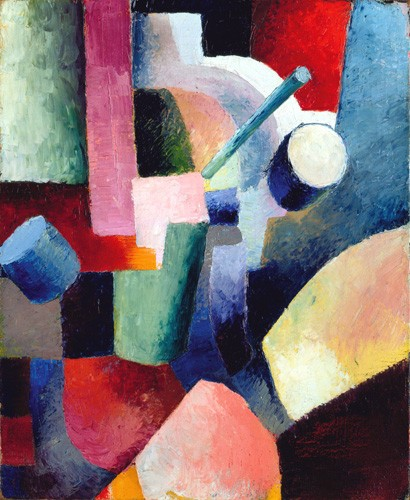 cuadros abstractos - Cuadro Abstracto _ Colored Composition of Forms, 1914 - Macke, August