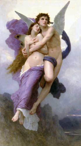 portrait and figure - El rapto de Psique - Bouguereau, William