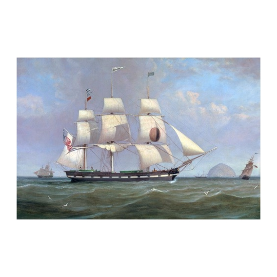 """The Black Ball Line Packet Ship 'New York' off Ailsa Craig, 183"
