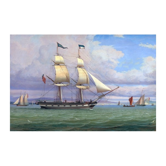 """The English Brig 'Norval' before the Wind, 1833"""