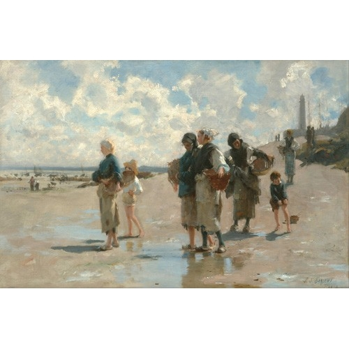 Comprar seascapes - Fishing for Oysters at Cancale, 1878 online - Sargent, John Singer