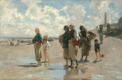 seascapes - Fishing for Oysters at Cancale, 1878 - Sargent, John Singer