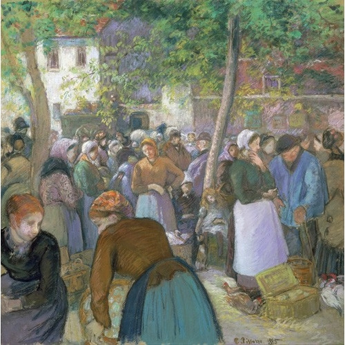 Comprar  - Cuadro Poultry Market at Gisors online - Pissarro, Camille