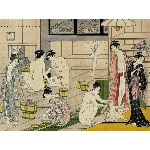 Comprar ethnic and oriental paintings - Bathhouse women online - Kiyonaga, Torii