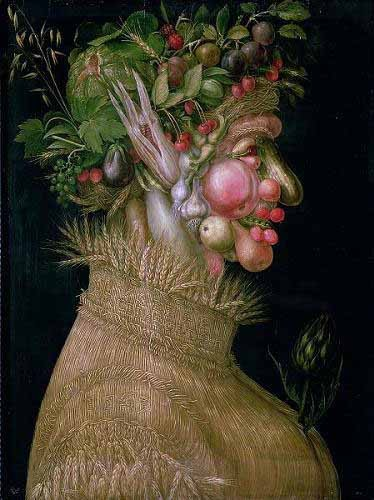 decorative paintings - El verano - Arcimboldo, Giuseppe