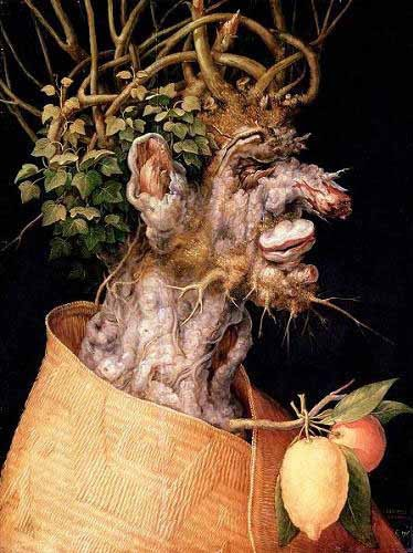 decorative paintings - El invierno - Arcimboldo, Giuseppe