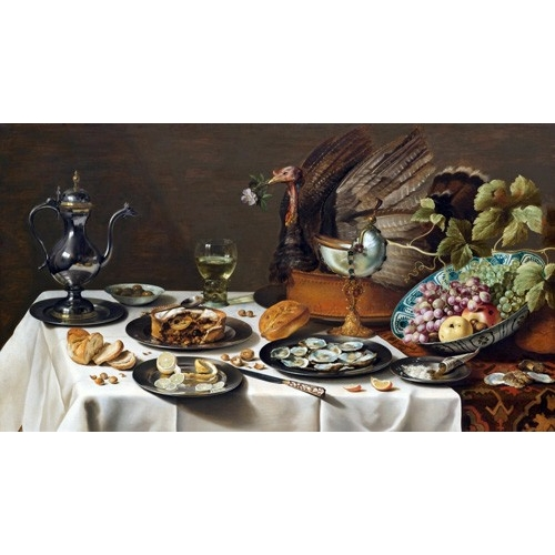 Cuadro Still Life with Turkey Pie, 1627