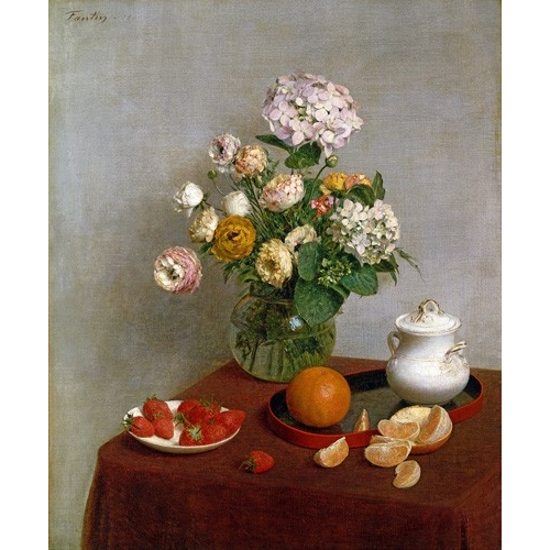 Cuadro Flowers_and_Fruit, 1866