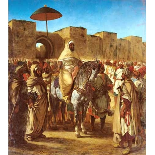 Comprar portrait and figure - The Sultan Of Morocco online - Delacroix, Eugene