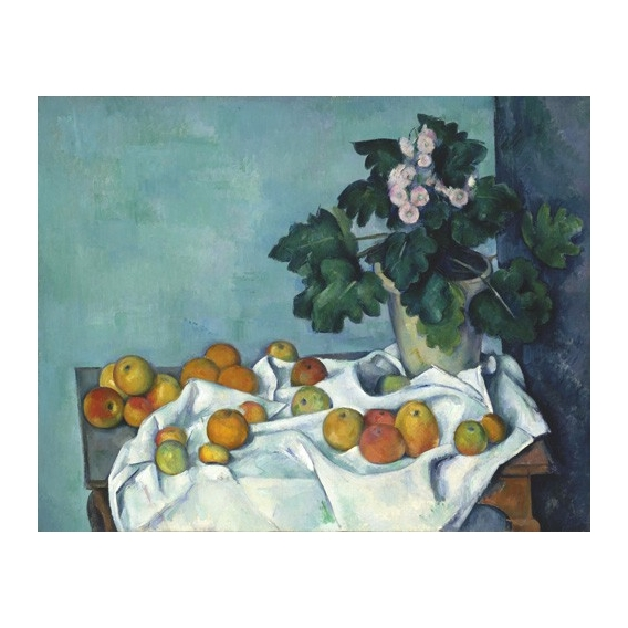 """""""Still Life with Apples and a Pot of Primroses, 1890"""""""