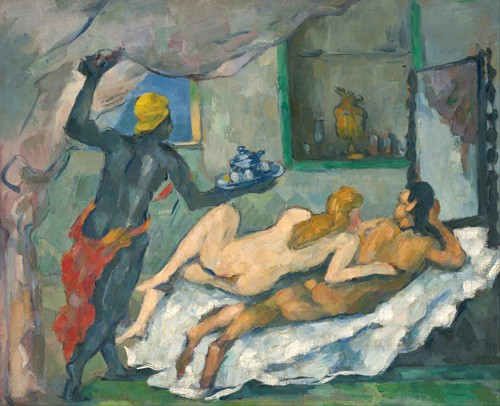 cuadros de desnudos - Cuadro Afternoon in Naples - Cezanne, Paul