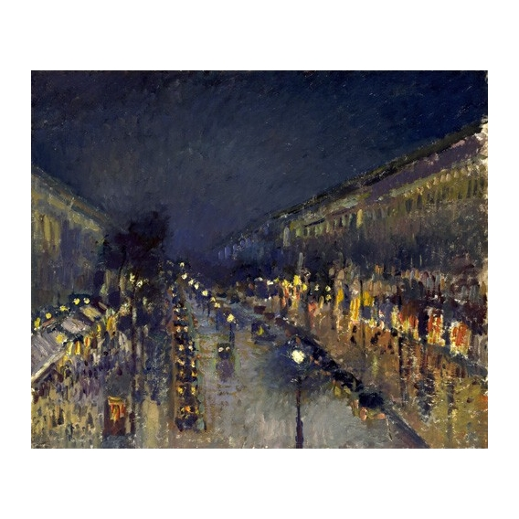 """The Boulevard Montmartre at Night, 1897"""