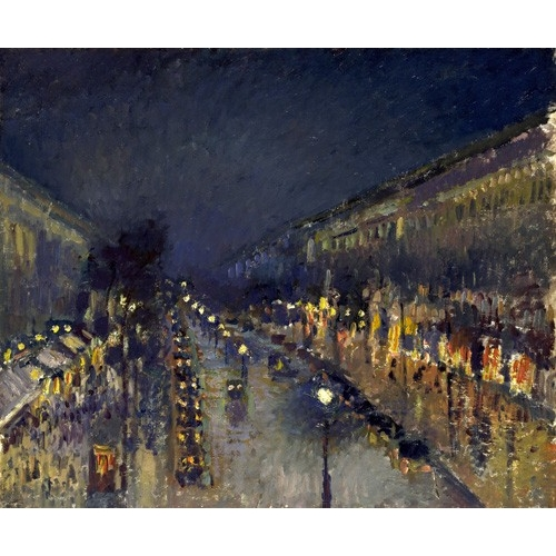 Comprar  - Cuadro The Boulevard Montmartre at Night, 1897 online - Pissarro, Camille
