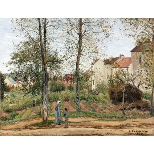 Comprar  - Cuadro Houses at Bougival (Autumn) online - Pissarro, Camille