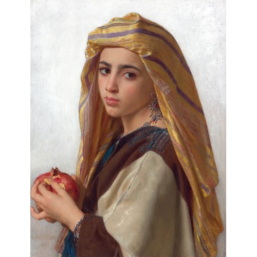 Comprar portrait and figure - Girl with a pomegranate online - Bouguereau, William