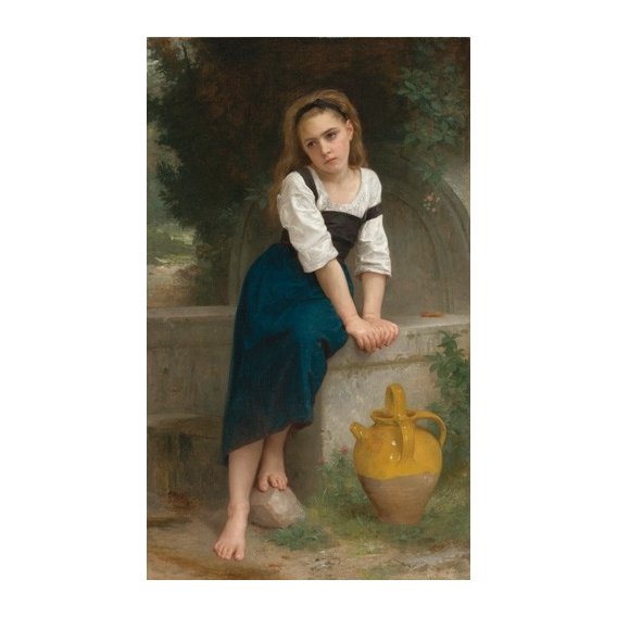 """Orphan by the Fountain, 1883"""
