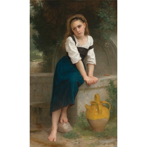 Comprar portrait and figure - Orphan by the Fountain, 1883 online - Bouguereau, William