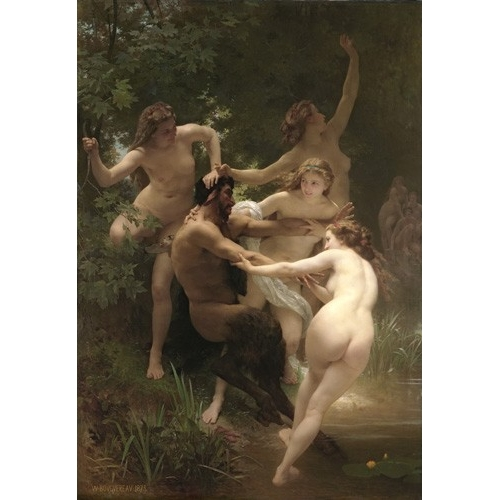 Comprar  - Cuadro Nymphs and Satyr, 1873 online - Bouguereau, William