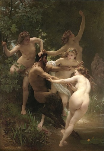 cuadros de desnudos - Cuadro Nymphs and Satyr, 1873 - Bouguereau, William