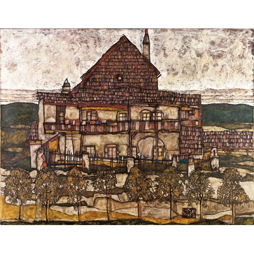 Comprar  - House with Shingle Roof (Old House II), 1915 online - Schiele, Egon