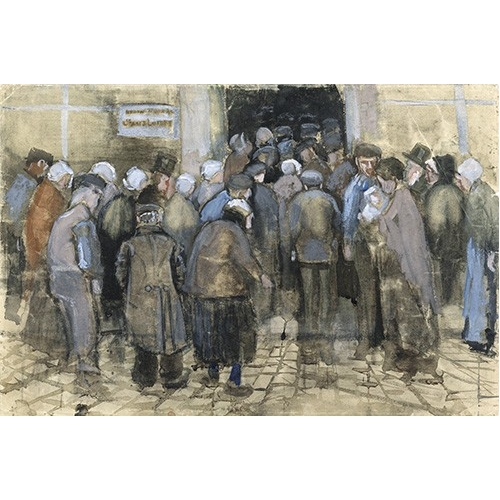 Cuadro The Poor and Money, 1882