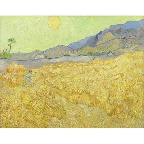 Comprar  - Cuadro Wheatfield with a Reaper, 1890 online - Van Gogh, Vincent