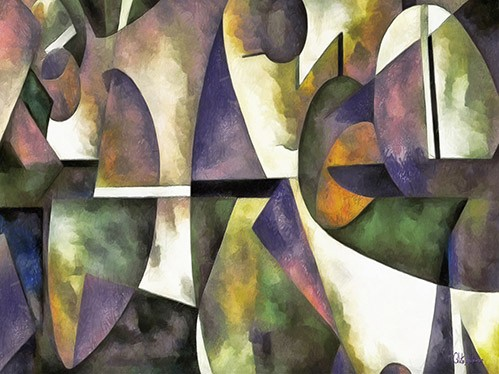 abstracts paintings - Moderno CM6676 - Medeiros, Celito