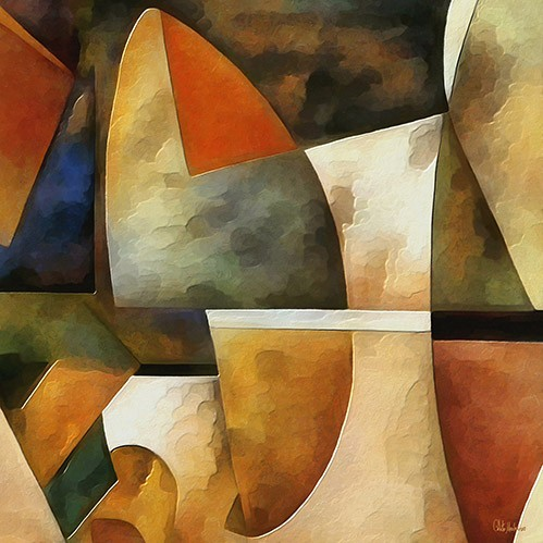 abstracts paintings - Moderno CM8884 - Medeiros, Celito