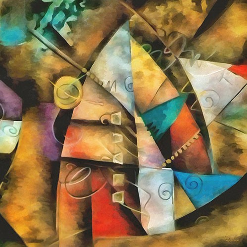 abstracts paintings - Moderno CM9002 - Medeiros, Celito