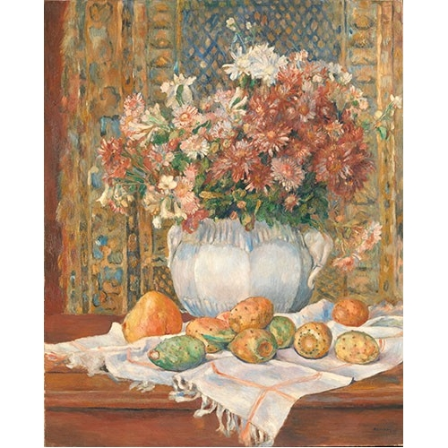 Comprar cuadros de bodegones - Cuadro Still Life with Flowers and Prickly Pears, 1885 online - Renoir, Pierre Auguste