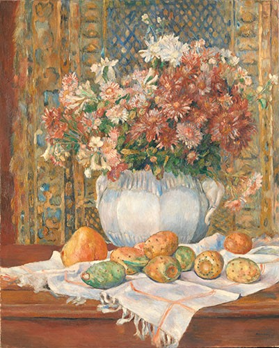 Still life paintings - Still Life with Flowers and Prickly Pears, 1885 - Renoir, Pierre Auguste