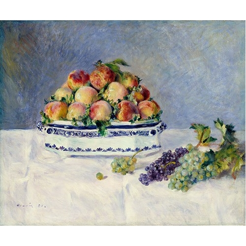 Comprar cuadros de bodegones - Cuadro Still Life with Peaches and Grapes, 1881 online - Renoir, Pierre Auguste