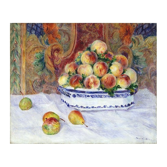 """Still Life with Peaches, 1881"""