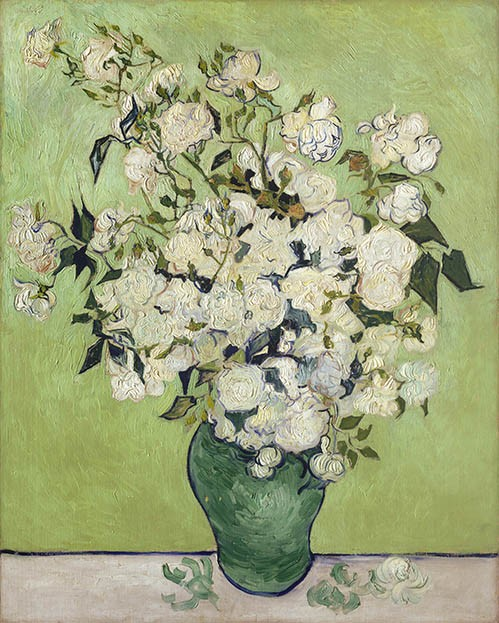 flowers - Vase of Roses, 1890 - Van Gogh, Vincent