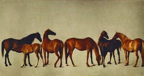 animals - Mares and Foals (caballos) - Stubbs, George