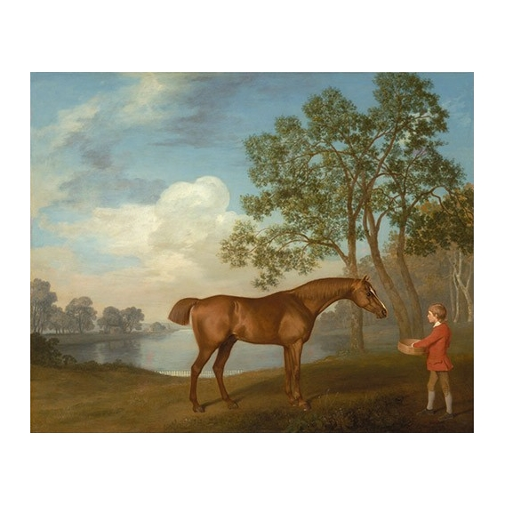 """""""Pumpkin with a Stable-lad"""" (caballos)"""