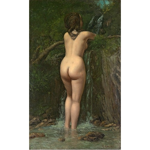 Comprar nude paintings - La Fuente online - Courbet, Gustave